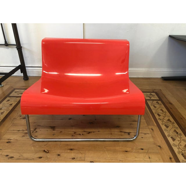 Kartell Piero Lissoni Orange Form Lounge Chair For Sale - Image 11 of 11