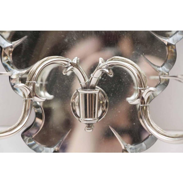 Etched Mirrored Two Arm Sconce For Sale - Image 5 of 9