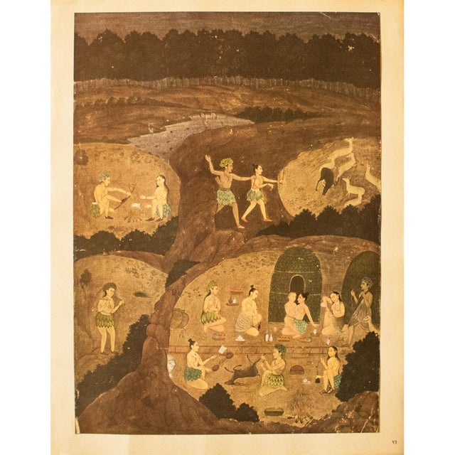 Rare 1950 Gazelle Hunt by Night, Gold-Leafed Original Parisian Lithograph For Sale - Image 9 of 10