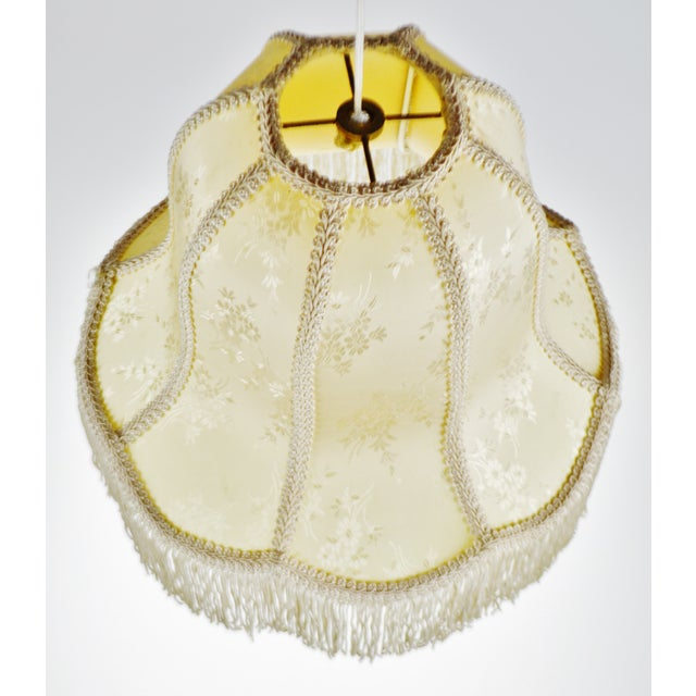 Vintage Victorian Style Bell Shaped Fringe Lamp Shade For Sale - Image 4 of 13
