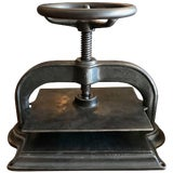 Image of Late 19th Century Industrial Brushed Steel Book Press For Sale