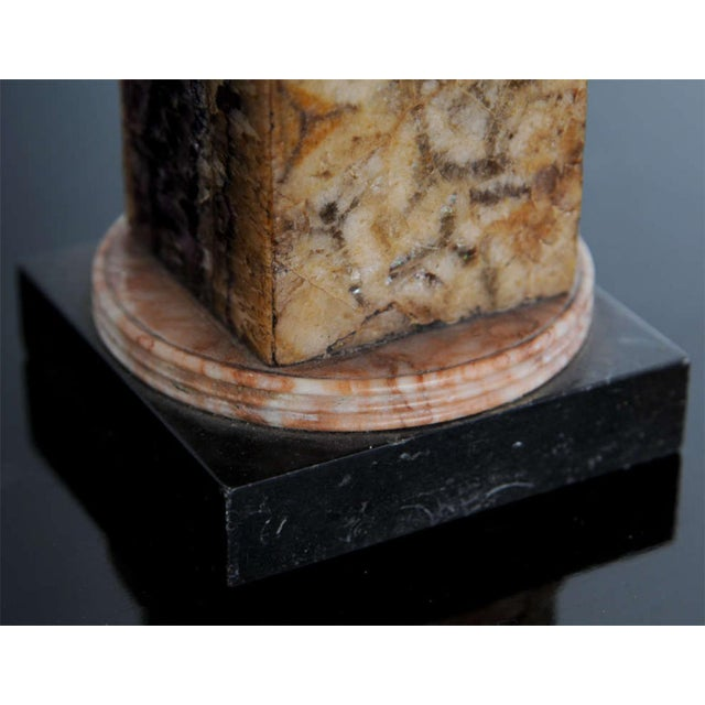 Gray Very Fine Pair of Bluejohn and Marmo Negro Columns, England For Sale - Image 8 of 8