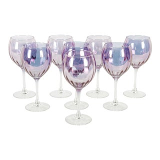 Mid-20th Century French Barware / Wine / Water Service / Eight People For Sale