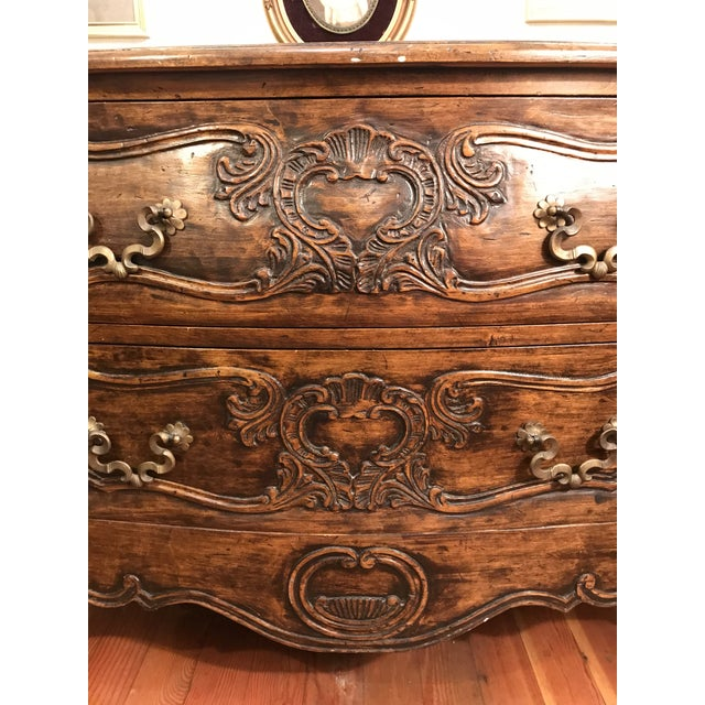 Brown 18th Century Style Carved French Provincial Dresser For Sale - Image 8 of 13