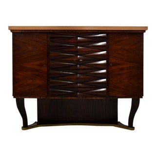 Mid-Century Rosewood Dry Bar Attributed to Osvaldo Borsani