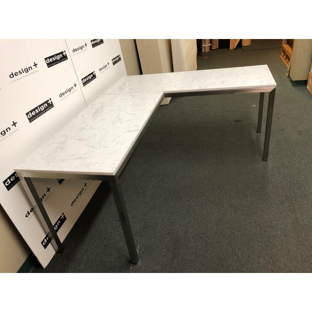 Contemporary Portica Desk and Return, by Room & Board For Sale - Image 3 of 13