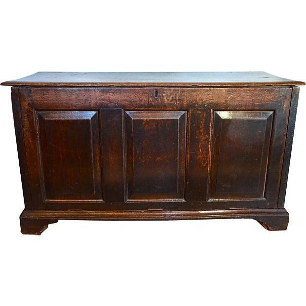 18th C English Oak Wood Chest - Image 1 of 5
