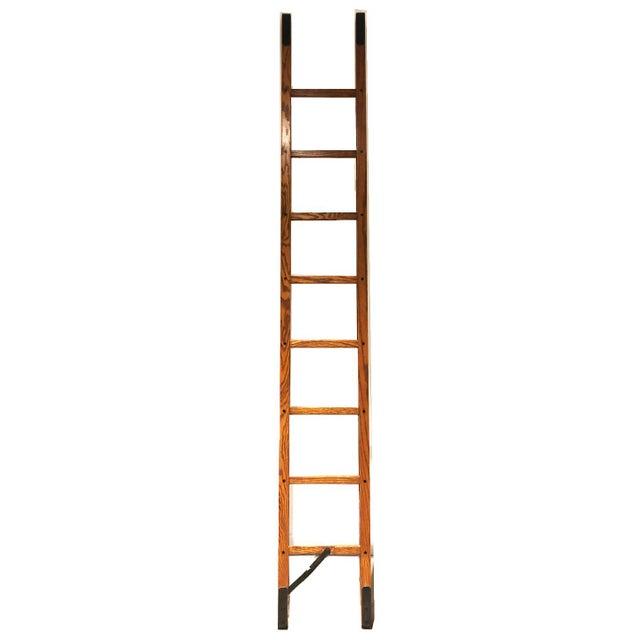Wood Oak Stick Ladder For Sale - Image 7 of 7