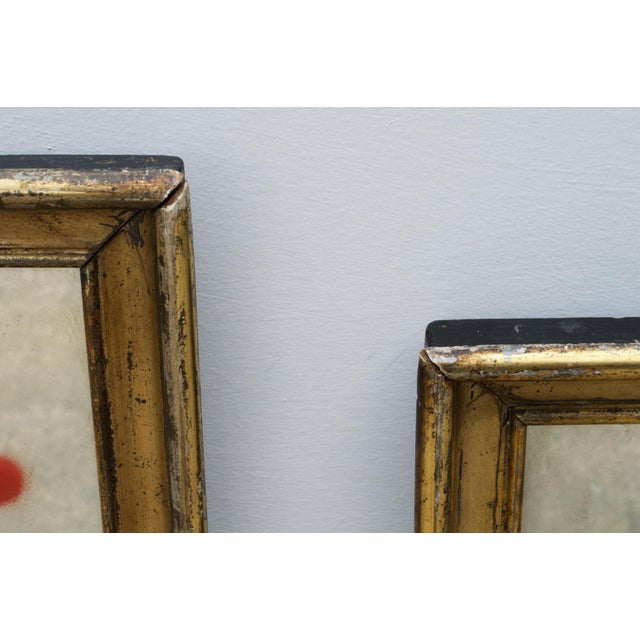 Decorative Graffiti Reflector Mirrors, a Pair For Sale - Image 6 of 13