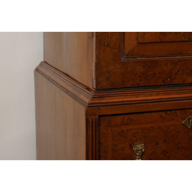 Late 19th Century William & Mary Style Burled Yew Linen Press Cabinet For Sale - Image 5 of 8