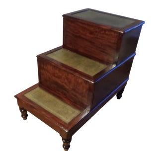 English Regency Mahogany Bed Steps, Circa 1820 For Sale