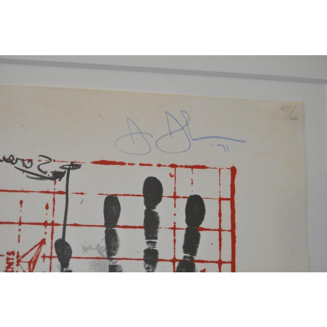 """Circa 1971 """"Coca Cola"""" Signed Color Lithograph By Jasper Johns For Sale - Image 5 of 9"""