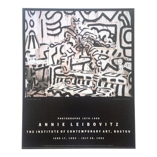 "Rare Vintage 1992 Annie Leibovitz Ica Exhibition Print Framed Poster "" Keith Haring "" 1986 For Sale"