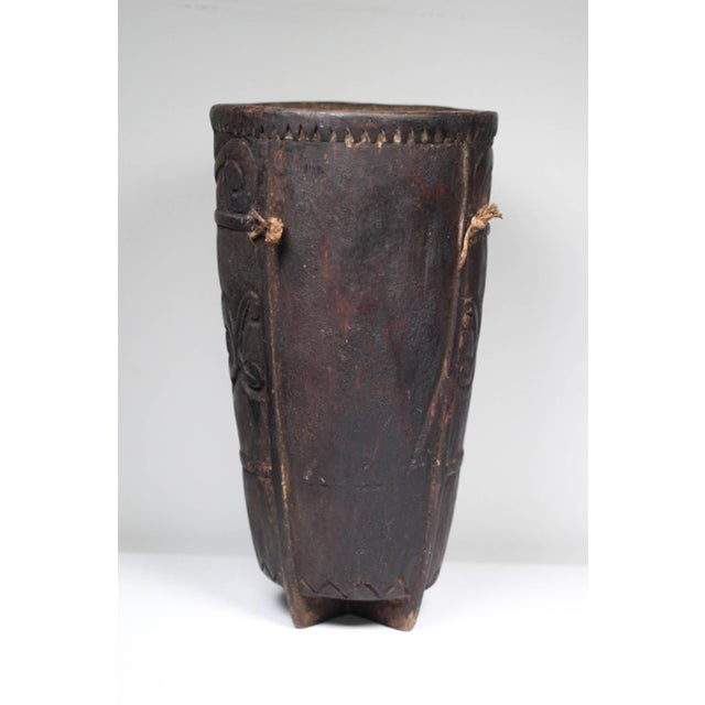 Boho Chic Early 20th C. Phillipino Betel Nut Wood Vessel For Sale - Image 3 of 5