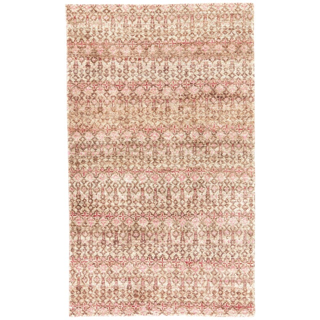 Jaipur Living Cane Hand-Knotted Geometric Brown/ Red Area Rug - 5′ × 8′ For Sale