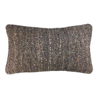"Minimalist Vintage Kilim Lumbar Pillow   12"" X 20"" For Sale"