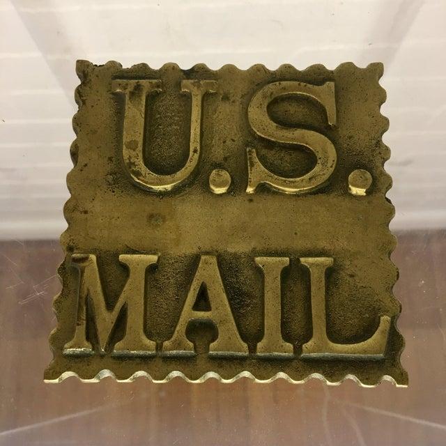 Vintage Brass Postage Stamp Box For Sale - Image 4 of 5