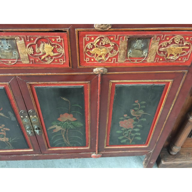 Late 19th Century Antique Carved Asian Cabinet For Sale - Image 5 of 13