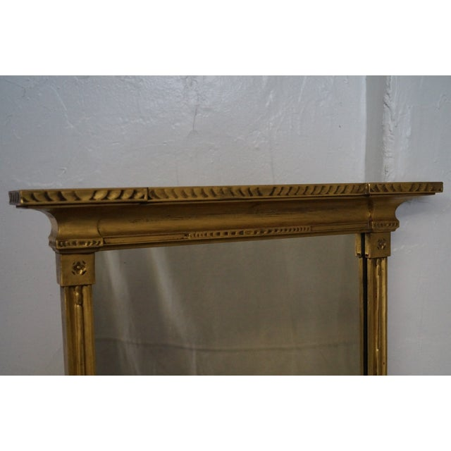 Giltwood Antique Gilt Wood Impressionist Wall Mirror For Sale - Image 7 of 10