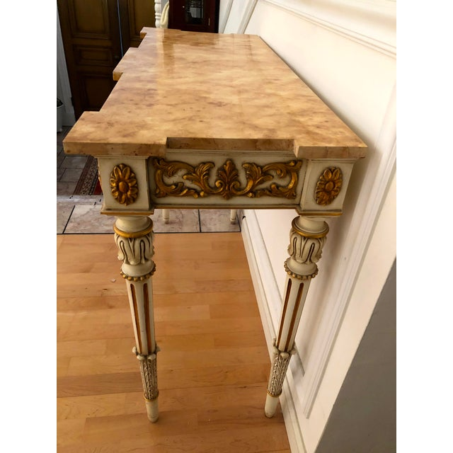 20th Century Vintage Karges Louis XVI Style Console Entry Table For Sale - Image 9 of 12