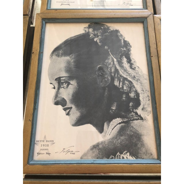 Metal Framed Portraits of Oscar Winners From 1928-1961 - Set of 25 For Sale - Image 7 of 10