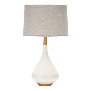 Miller Lamp in Grogged Bone Glaze For Sale
