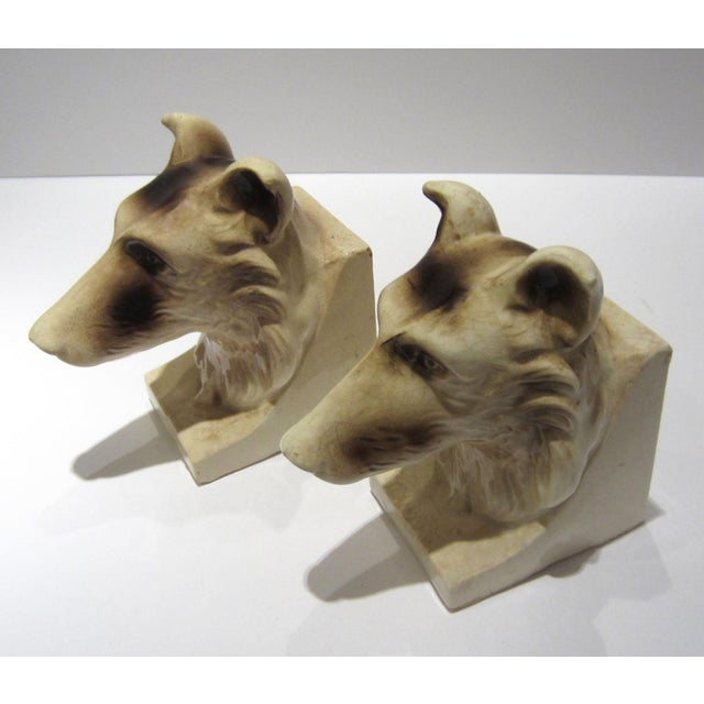 1950s 1950s Vintage Ceramic Dog Bookends - A Pair For Sale - Image 5 of 13