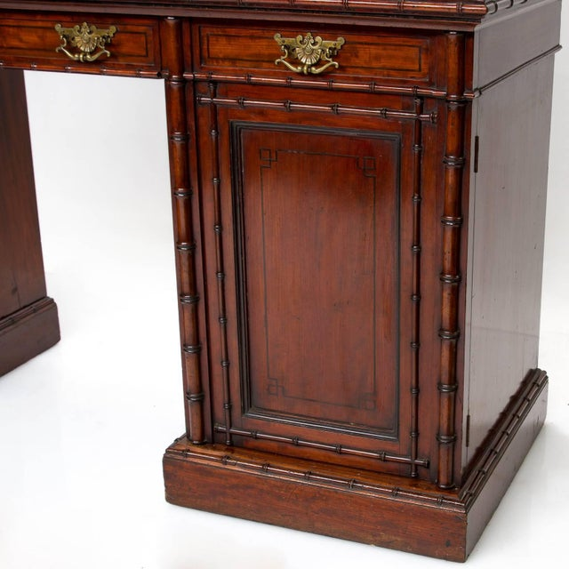 Victorian 19th Century English Pedestal Sideboard With Mirror Back For Sale - Image 3 of 8