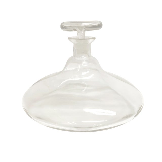 Mid Century Large Glass Decanter For Sale