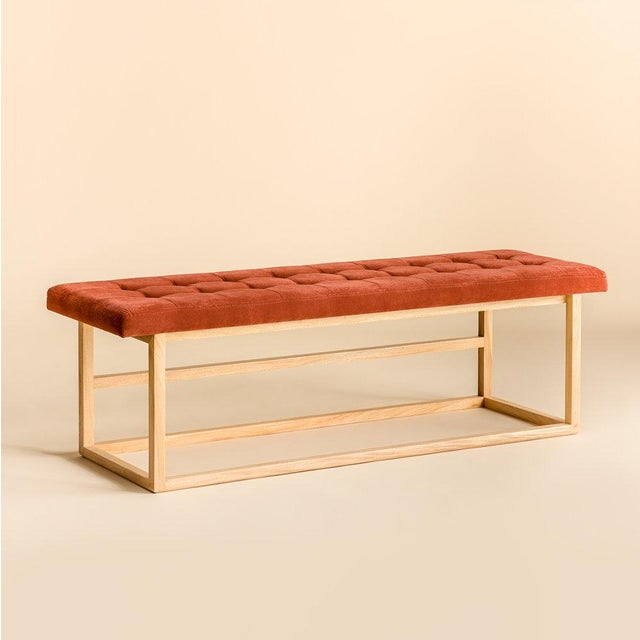 Not Yet Made - Made To Order Ebb and Flow Tufted Bench For Sale - Image 5 of 5