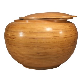 Spun Bamboo Container For Sale