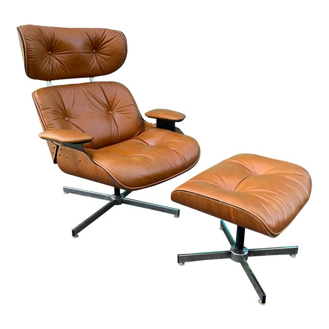 Amazing Vintage Plycraft Eames Lounge Chair Ottoman Dailytribune Chair Design For Home Dailytribuneorg