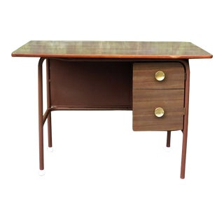 1960s Deco Style Metal Desk For Sale