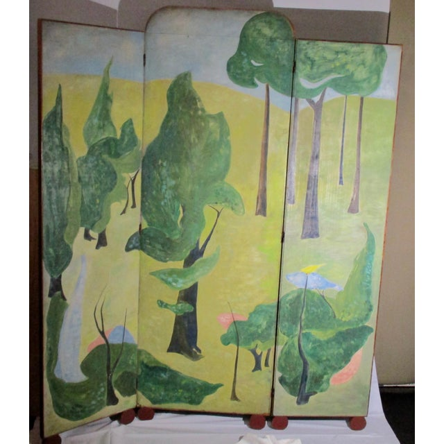 1930s Russian Fairy Tale Floor Screen For Sale - Image 4 of 13