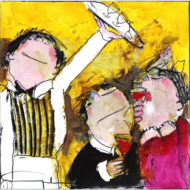 "Original Figurative Abstract Artwork by Gerdine Duijsens ""The Waiter"" For Sale"