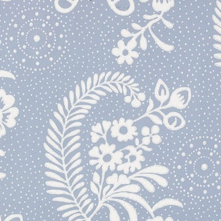 Schumacher Millicent Wallpaper in Delft Preview