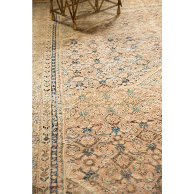 """1940s Vintage Distressed Mahal Carpet - 9'9"""" X 12'8"""" For Sale - Image 5 of 13"""