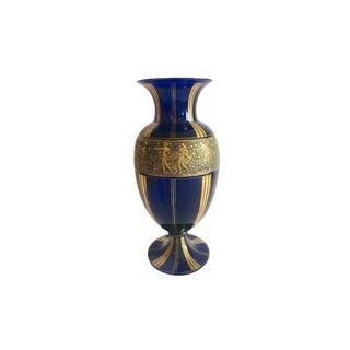 Cobalt Signed Moser Vase