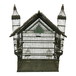French Iron Birdcage For Sale