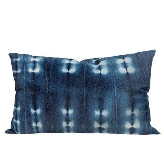 Vintage African Indigo Mudcloth Pillow For Sale