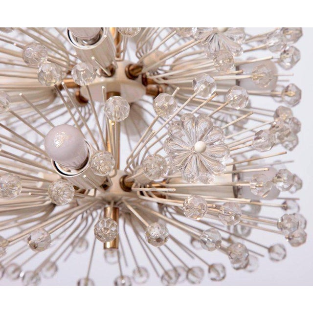"Sputnik chandelier ""Pusteblume"" designed by Emil Stejnar, 1955. Executed by Rupert Nikoll in Vienna. This Sputnik..."