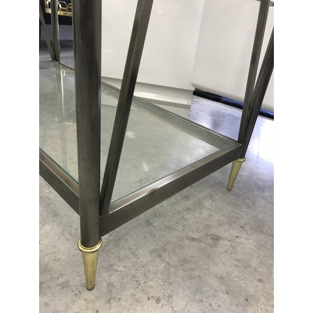 Dia Etagere with Glass Shelves For Sale - Image 9 of 13