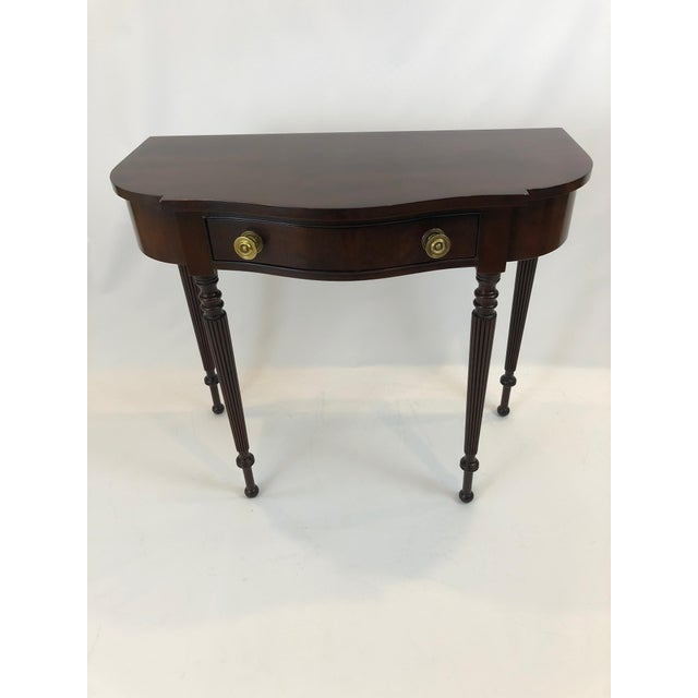 Traditional Federal Style Cherry Console Table For Sale - Image 9 of 9