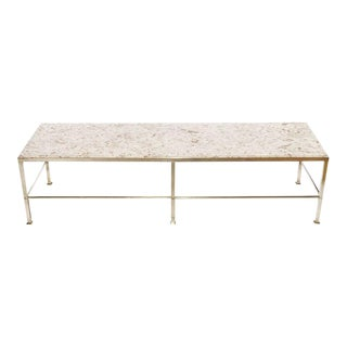Edward Wormley for Dunbar Solid Brass & Marble Coffee Table For Sale