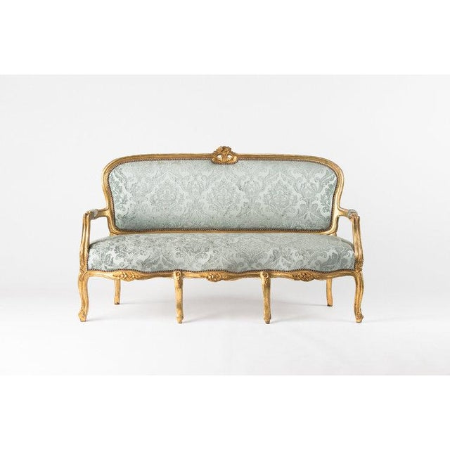 1930s Vintage Adalie French Mint Sofa For Sale In Los Angeles - Image 6 of 6