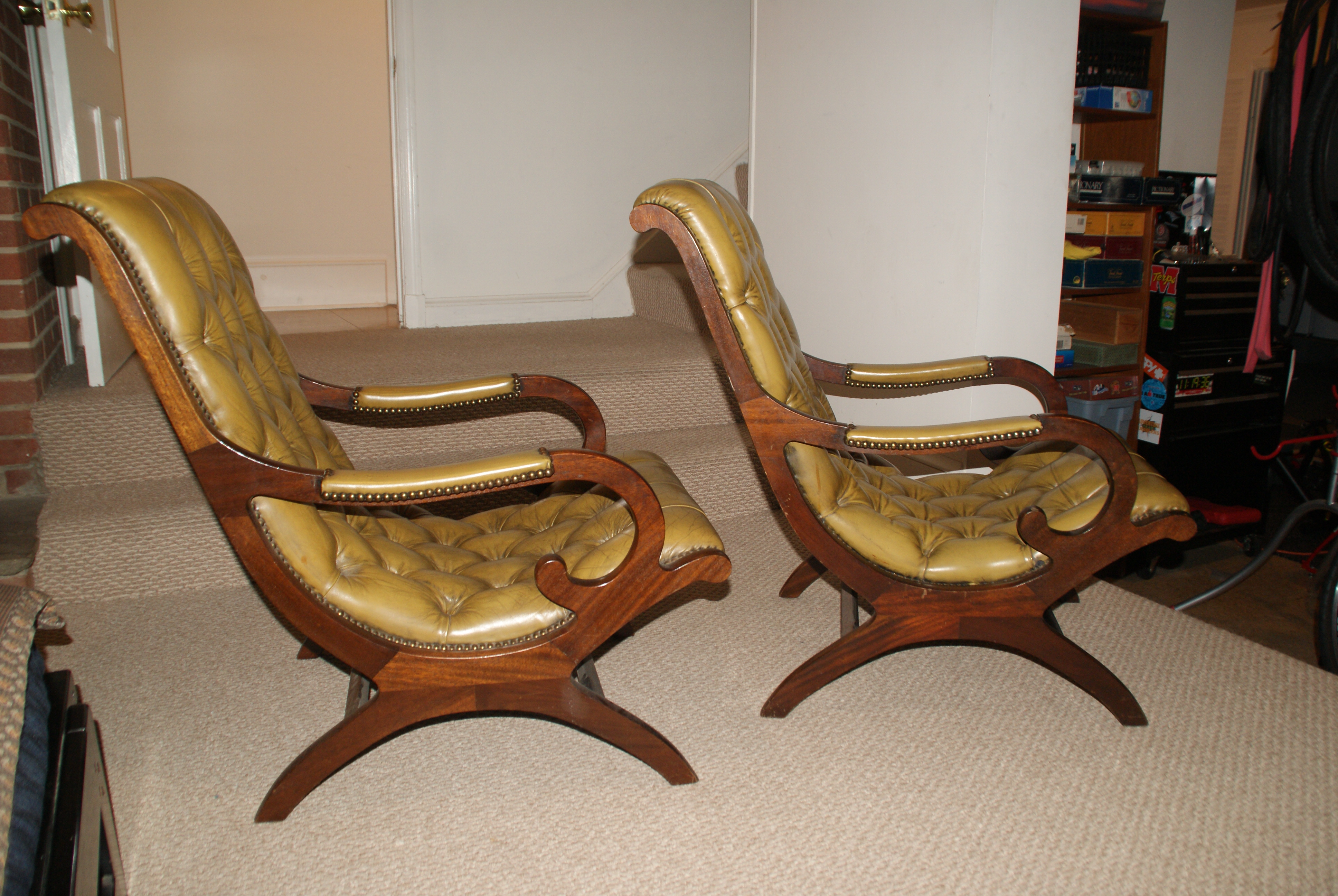 Leather Plantation Chairs   A Pair   Image 2 Of 9