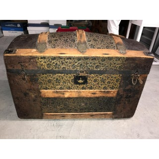 Antique Round Top Travel Chest Preview
