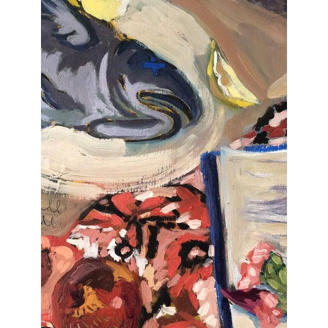 Original painting by New Orleans artist Rachel Loyacono. Oil paint on wood panel.
