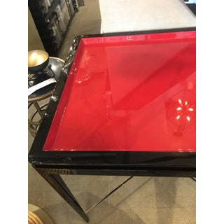 Mid-Century Modern Theodore Alexander Red Black Lacquer Table Preview