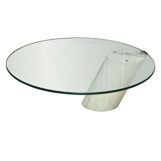Marble and Glass Low Table Possibly by Brueton For Sale - Image 9 of 9